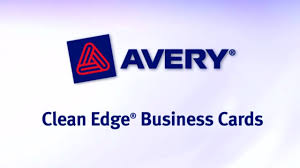 Avery Laser Business Cards Avery Two Side Printable Clean Edge Business Cards Youtube