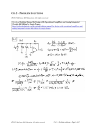 solution manual for design with operational amplifiers and analog