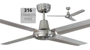 Swift 316 Marine Grade Stainless Steel Coastal Outdoor Ceiling Fan