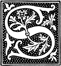 clipart initial letter s from beginning of the 16th century