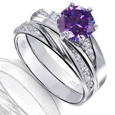 amethyst wedding rings amethyst engagement wedding ring sets ebay