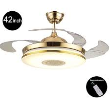 Light Fans Ceiling Fixtures 110v 220v 42inch Modern Gold Fan Ceiling Lights Fixtures Acrylic
