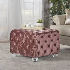 Noah Tufted Storage Ottoman Purple Square Ottomans U0026 Storage Ottomans For Less Overstock Com