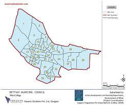 Gurgaon India Map by Bettiah Ward Map Pdf Download Master Plans India
