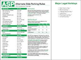 2014 alternate side parking calendar