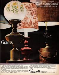 Early American Home Decor Early American Lamp Styles From Grants 1965 Early American