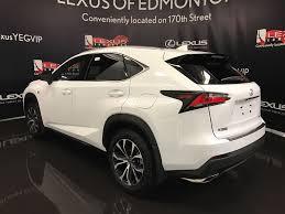 white lexus nx f sport used 2017 lexus nx 200t 4 door sport utility in edmonton ab l12778