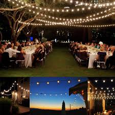 Exterior String Lights by 100 Ft G40 Outdoor Patio Party Globe String Lights 100 Sockets