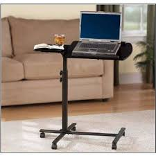 Mainstays Writing Table Mainstays Deluxe Laptop Tablet Cart Metal Black Mouse Tray 5