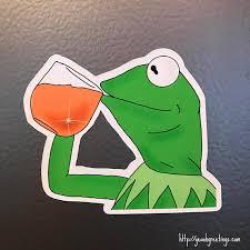 Funny Frog Meme - funny frog fridge magnet internet meme refrigerator magnet