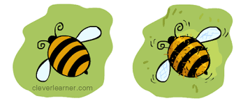 step by step drawing of a bumble bee