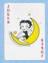 betty boop card single four of diamonds 1 card