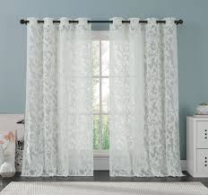 amazon com white lace curtain panel 57 x 98 inches beautifully