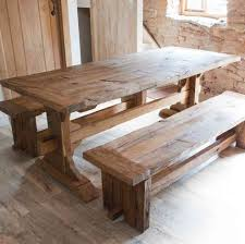 Bench Style Dining Tables Outstanding Farmhouse Entrance Bench Home Ideas 2016 For Farm