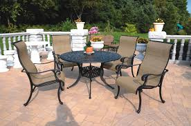 Patio Direct Replacement Slings by Patio Furniture Cast Aluminum Sling Dining Set 48