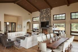 top living room dining room open concept design ideas contemporary