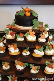 thanksgiving cupcake cakes fall themed cupcake tower cake