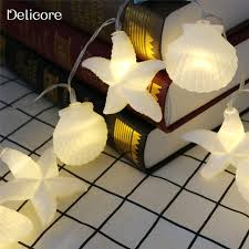 christmas garland battery operated led lights delicore home collection seashells string lights fairy lights ocean