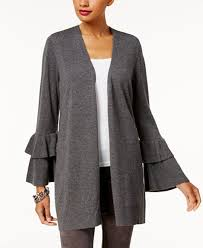 inc clothing sui inc international concepts ruffled sleeve cardigan