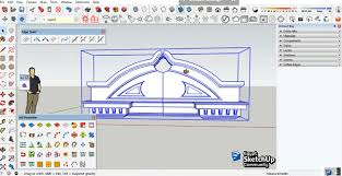 tutorial sketchup modeling how to perform simple fronton modeling in sketchup after importing
