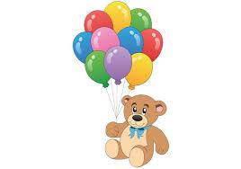 teddy balloons teddy vector with balloon vectors free vector at vecteezy