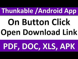 tutorial android pdf on button click open download link of pdf doc xls apk thunkable
