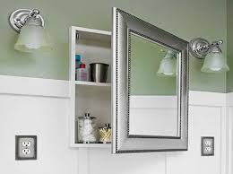 beveled glass medicine cabinet recessed vintage recessed medicine cabinet pottery barn for built in ideas 15