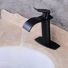 Centerset Waterfall Faucet Centerset Ceramic Valve One Hole Oil Rubbed Bronze Waterfall