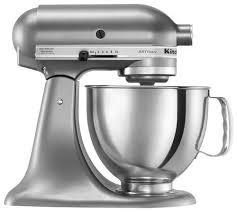 kitchenaid ksm150pscu artisan series tilt head stand mixer silver