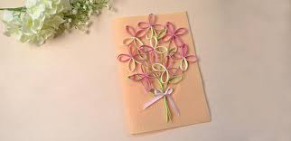 paper greeting cards quilled greeting card family crafts
