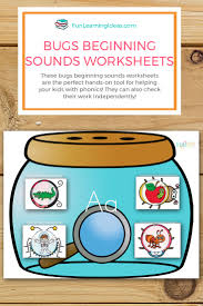 fun hands on bugs beginning sounds worksheets