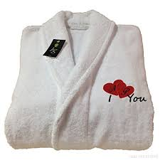 robe de chambre anglais peignoir de bain robe de chambre blanc cadeau pour la valentin