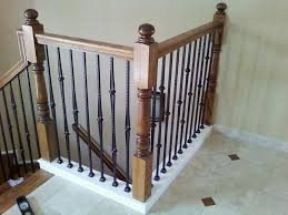 Stair Banister Decorations Inexpensive Black Painted Iron Baluster Design With