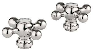 Sterling Tub Faucet Parts Grohe 18731be0 Seabury Cross Handles Sterling Set Of 2