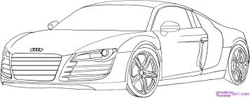 how to draw the car the dodge viper car step by step