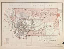Montana Wyoming Map by Montana Territory Wikipedia