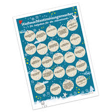 adventskalender spr che f r jeden tag adventskalender weihnachtsstimmungsmacher mit 24 aufgaben für die