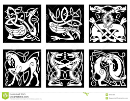 celtic ornaments with animals stock vector image 49407384