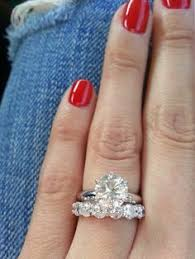 size 6 engagement ring 2 5 solitare h vvs1 with 1 76 carat band f color