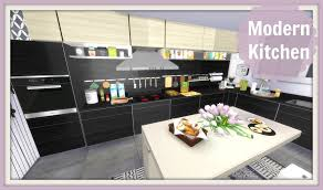 modern house kitchen sims 4 modern kitchen youtube