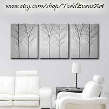 gray wall decor large wall art canvas art sale tree painting wall decor home etsy