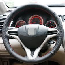 2006 honda civic wheels aliexpress com buy black artificial leather car steering wheel