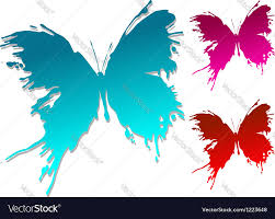 colourful butterfly blots royalty free vector image