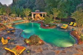 swimming pool garden landscaping ideas design with brick images