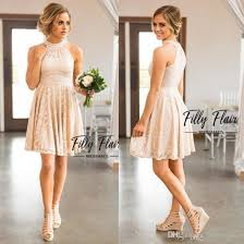 2017 blush keyhole neck a line full lace country bridesmaid