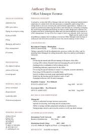 resume format administration manager job profiles office manager cv sle