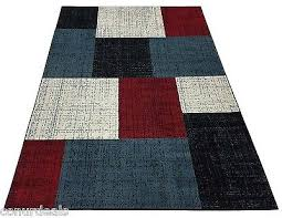 Area Rugs And Carpets Rugs Area Rug Carpet Black White Blue Square Design Rugs 5x7