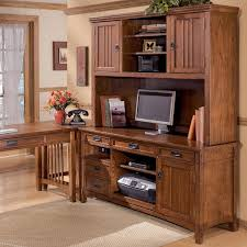 Mission Furniture Desk Ashley Furniture Cross Island Office Mission Credenza Desk U0026 2