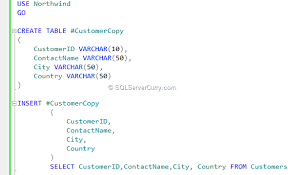 working with temporary objects in sql server