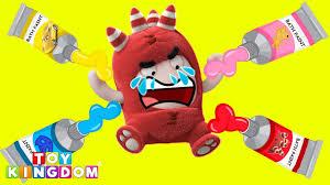 peppa pig bath paint learn colors disney cars 3 pj masks oddbods